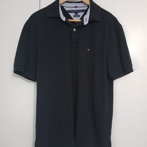 Tommy Hilfiger classic fit black polo large